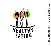 vector logo healthy eating | Shutterstock .eps vector #1071805772