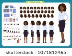 set of black businesswoman... | Shutterstock .eps vector #1071812465