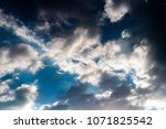 colorful dramatic sky with... | Shutterstock . vector #1071825542