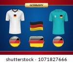 football germany jersey. vector ...   Shutterstock .eps vector #1071827666