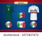 football mexico jersey. vector...   Shutterstock .eps vector #1071827672