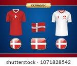 football denmark jersey. vector ...   Shutterstock .eps vector #1071828542