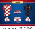 football croatia jersey. vector ... | Shutterstock .eps vector #1071830285
