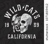Wild Cats Motorcycle Vector...