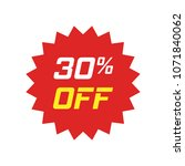 discount sticker vector icon in ... | Shutterstock .eps vector #1071840062