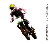 motocross racing  polygonal fmx ... | Shutterstock .eps vector #1071842072