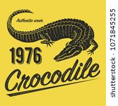 crocodile poster  print for t... | Shutterstock .eps vector #1071845255