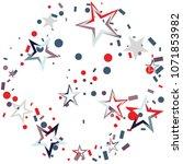 christmas colorful stars... | Shutterstock .eps vector #1071853982
