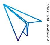 degraded line paper airplane... | Shutterstock .eps vector #1071854492