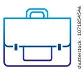 degraded line briefcase object... | Shutterstock .eps vector #1071854546