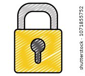 doodle close security padlock... | Shutterstock .eps vector #1071855752