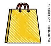 doodle market shopping bag... | Shutterstock .eps vector #1071855842