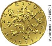 Vector Gold Money Twenty Czech...