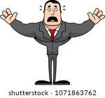 a cartoon businessperson... | Shutterstock .eps vector #1071863762