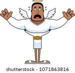 a cartoon angel looking scared. | Shutterstock .eps vector #1071863816