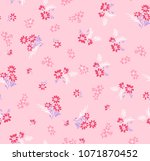 seamless pattern with  flowers. ...   Shutterstock .eps vector #1071870452