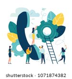 vector illustration  customer... | Shutterstock .eps vector #1071874382