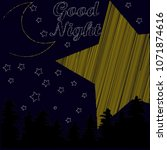 good night.night scene with... | Shutterstock .eps vector #1071874616