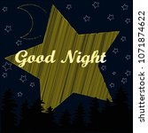 good night.night scene with... | Shutterstock .eps vector #1071874622