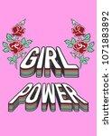 girl power typography slogan... | Shutterstock .eps vector #1071883892