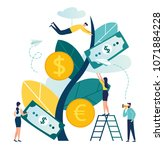 vector illustration  a growing... | Shutterstock .eps vector #1071884228