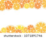 vector illustration of sliced... | Shutterstock .eps vector #1071891746