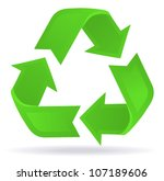 glossy recycling | Shutterstock .eps vector #107189606