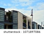 modern and new apartment... | Shutterstock . vector #1071897086
