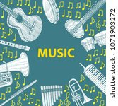 musical instruments composition.... | Shutterstock .eps vector #1071903272