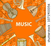 musical instruments composition.... | Shutterstock .eps vector #1071903356