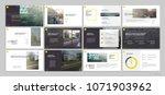yellow presentation templates... | Shutterstock .eps vector #1071903962