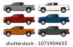 pickup truck vector template... | Shutterstock .eps vector #1071904655