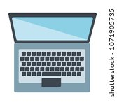 computer laptop isolated icon | Shutterstock .eps vector #1071905735
