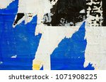 old vintage ripped torn posters ... | Shutterstock . vector #1071908225