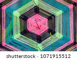 art of colorful thread decorate ... | Shutterstock . vector #1071915512