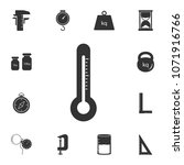 thermometer icon. simple... | Shutterstock . vector #1071916766