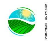 plantation  agriculture logo or ... | Shutterstock .eps vector #1071916805