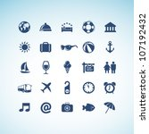 set of travel icons | Shutterstock .eps vector #107192432