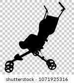simple silhouette of baby... | Shutterstock .eps vector #1071925316