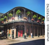 french quarter architecture in... | Shutterstock . vector #1071925742