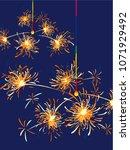 japanese sparkler vector... | Shutterstock .eps vector #1071929492