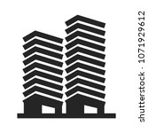 apartments vector icon ... | Shutterstock .eps vector #1071929612