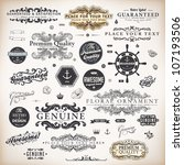 vector set  calligraphic design ... | Shutterstock .eps vector #107193506