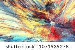 bright artistic splashes.... | Shutterstock . vector #1071939278