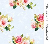 seamless floral pattern with... | Shutterstock .eps vector #1071942482