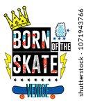 venice born of the skate t... | Shutterstock .eps vector #1071943766