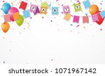 Colorful Birthday Balloon With...