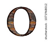 rustic wooden style letter o ...   Shutterstock . vector #1071968012