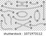 various style gray rope out... | Shutterstock .eps vector #1071973112