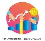 digital currency graphs... | Shutterstock .eps vector #1071976106